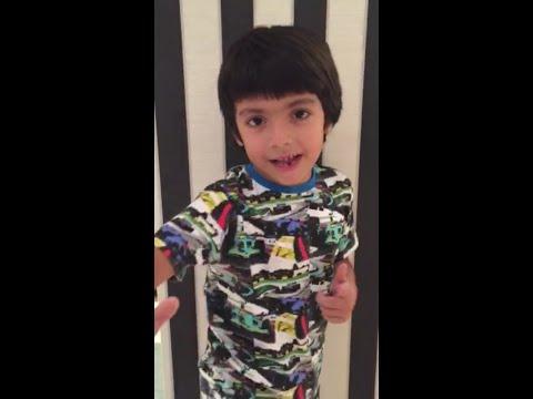 El hijo de Gianinna y el Kun se copó con la canción de Cata del Moro: ¡mirá el video que le grabó!