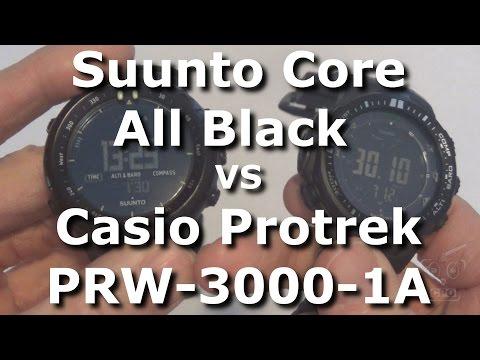 Suunto Core All Black vs Casio Protrek PRW-3000-1A - Side by Side