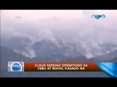 Cloud seeding operations sa Cebu at Bohol kasado na
