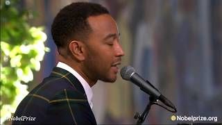 John Legend Performs Live 34 Redemption Song 34 By Bob Marley At 2017 Nobel Peace Prize Award Ceremony