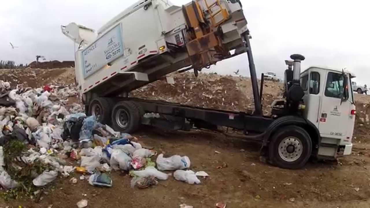 Garbage Dumps Garbage Truck Asl Dumping at