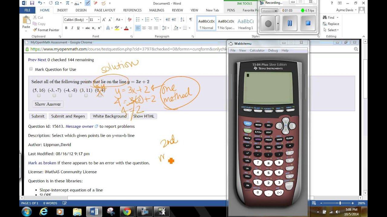 given y=mx+b, select p...Y Mx B Calculator