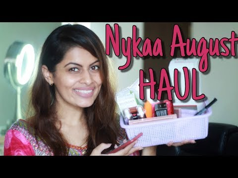 NYKAA AUGUST SALE HAUL | Huge SkinCare & Makeup Haul worth Rs.15,000/- | Kavya K