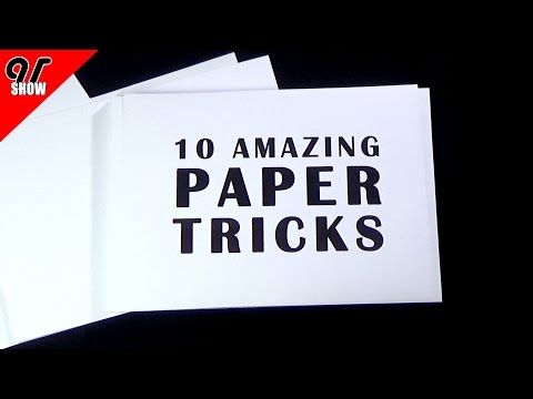 Do You Know these 10 ★ Amazing Paper Tricks?