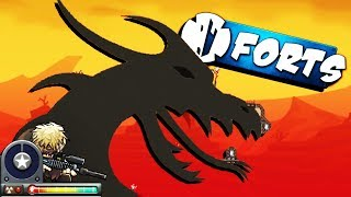 Attack of the DRAGONS! - Modded Forts Multiplayer Gameplay