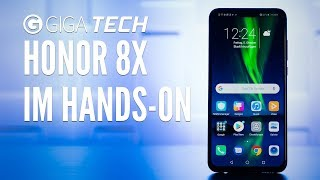 Honor 8X im Hands-On (deutsch): Optisch toll, Anschluss oll - GIGA.DE