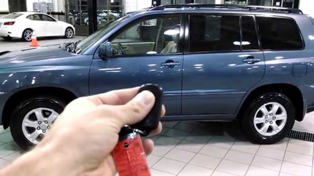 Toyota Highlander Suv Key Fob Explaination Youtube