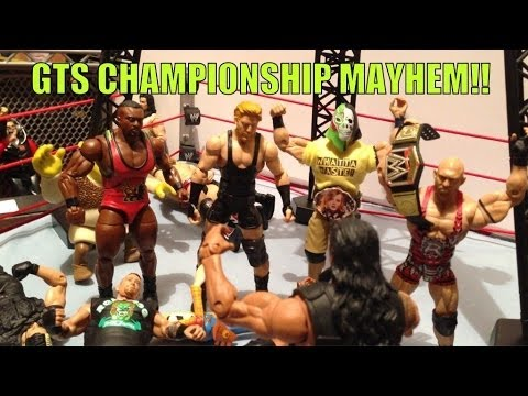 GTS WRESTLING: Mayhem! WWE Mattel Elite Action Figure matches animation PPV EVENT!