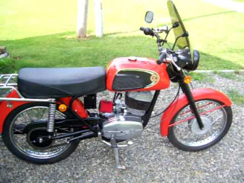 CZ Jawa Type 477 175cc kickstart and walk around