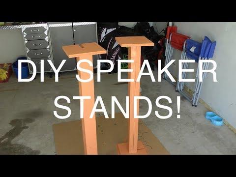 DIY Speaker Stands!
