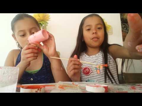 Como hacer abanicos con palillos y pintura