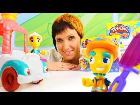 Плей До мороженое. Видео для детей. Маша и Play-Doh Town