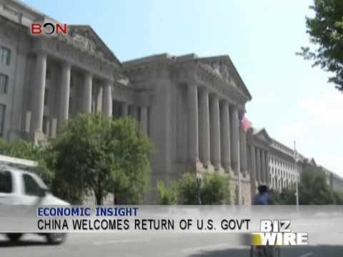 China welcomes return of U.S. gov't - Biz Wire - October 21,2013 - BONTV China