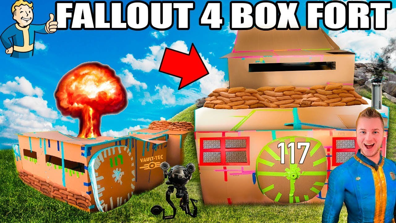 TWO STORY FALLOUT 4 BOX FORT VAULT!!