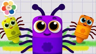 Itsy Bitsy Spider | Nursery Rhymes Collection With Color Crew Babies | Kids Songs by Baby First TV