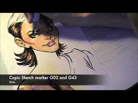 Todd Nauck Speed Drawing: Rogue part 2 of 2