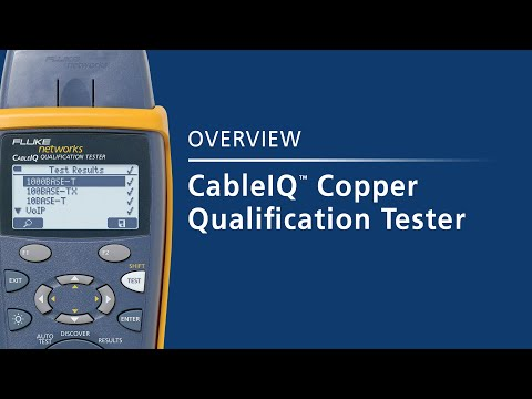 CableIQ Qualification Tester - Copper Testing: By Fluke Networks