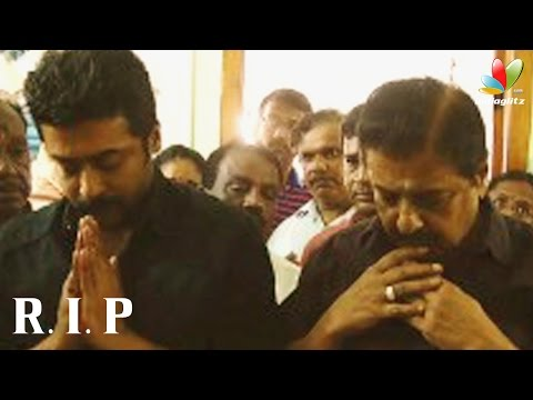 Surya and Sivakumar pays tribute to 'Film News' Anandan | Death, Funeral