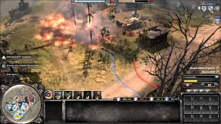 COMPANY OF HEROES 2 - online battle #4 - hd