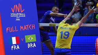 France v Brazil - Full Match - Final Round Pool A | Men's VNL 2018
