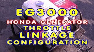 Throttle Linkage Configuration On Honda EG3000 Generator