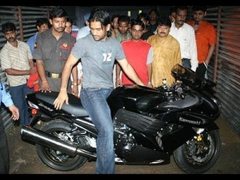 Mahendra Singh Dhoni's Love For Super Bikes !