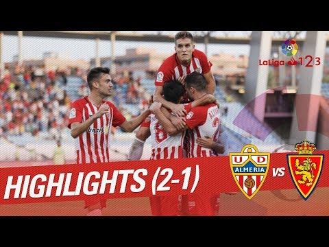 Resumen de UD Almería vs Real Zaragoza (2-1)