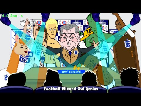 England vs Slovenia 3-1 by 442oons 15.11.14 (goals, highlights, football cartoon, Rooney, Welbeck)