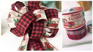How To Make A Bow | BEST EVER WAY ~ For Wreaths, Swags, Christmas Tree, Weddings & More