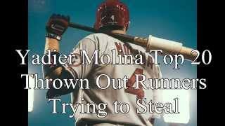 Yadier Molina Top 20 Thrown Out Runners Trying to Steal