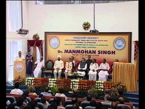 Prime Minister Dr  Manmohan Singh Visit to Pondicherry University 29 06 2012