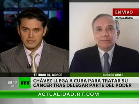 Raúl Castro recibe a Chávez, que volvió a Cuba para continuar tratamiento contra el cáncer