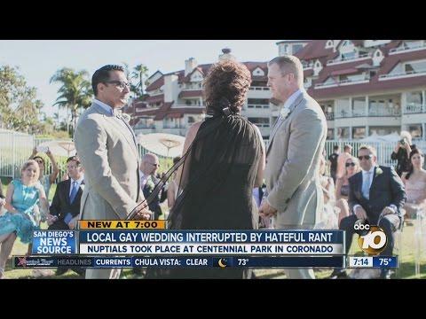 Gay wedding interrupted by hateful rant