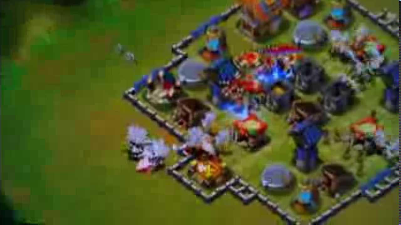 Castle Clash - Best Defence ( Layout 3 ) - YouTube