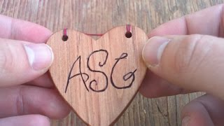 How to Make a Wooden Heart-Shaped Christmas Ornament