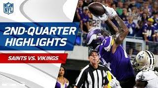 Stefon Diggs Mosses the Saints in the 2nd Quarter | NFL Week 1 Highlights
