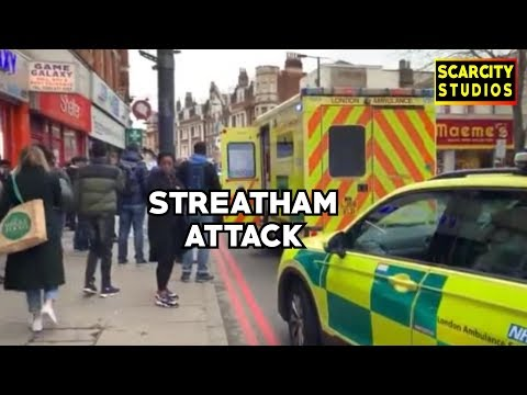 Triple Stabbing & Suspect Shot Dead Streatham High Road Incident #StreetNews
