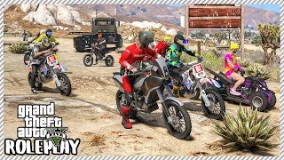 GTA 5 Roleplay - 20 Man Dirt Bike Downhill Race Wipeout | RedlineRP #257