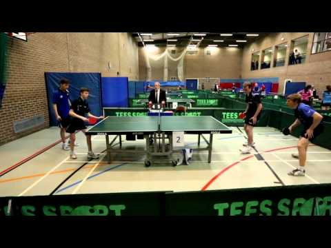 Welsh Closed Table Tennis Competition 2014 -- Men's Double Final (1) - Leg 2 Daniel O'Connell & Patrick Thomas v Callum Evans & Conner Edwards Match played o...