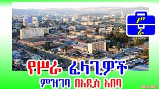 የሥራ ፈላጊዎች ምዝገባ በአዲስ አበባ - Registration of job seekers in Addis
