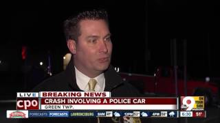 Deputy suffers broken leg in Green Township crash