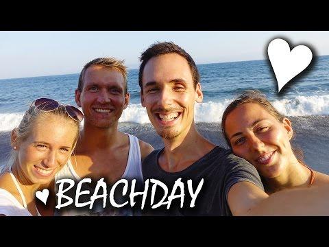 Beachday Auf Bali - Schwarzer Sand & Umfrage - Indonesien | VLOG #51