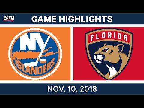 NHL Highlights | Islanders vs. Panthers – Nov. 10, 2018