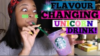 Trying The New Starbucks Unicorn Frappuccino | Flavor Changing Drink
