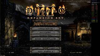 Diablo 2 LOD modded with Resurgence Mod - Bowazon end game [No Commentary]