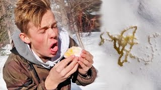 I FOUND YELLOW SNOW... AND ATE IT! *WARNING GRAPHIC*