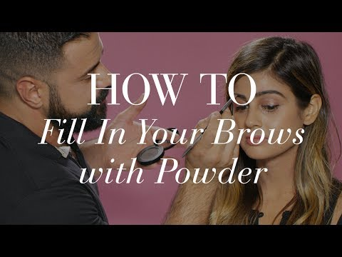 How To Fill In Your Brows With Powder | The Zoe Report by Rachel Zoe