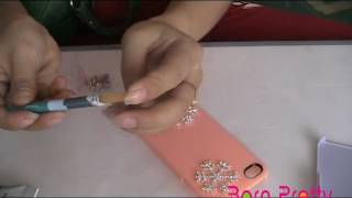 Tutorial DIY Your iPhone Case Cover With Shining Decorations