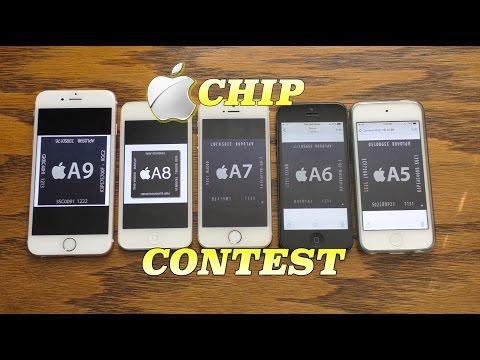 Apple A9 chip vs A8 vs A7 vs A6 vs A5 | Chip Contest!
