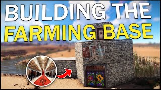 BUILDING the OVERPOWERED FARMING BASE! - Rust Solo Survival #2